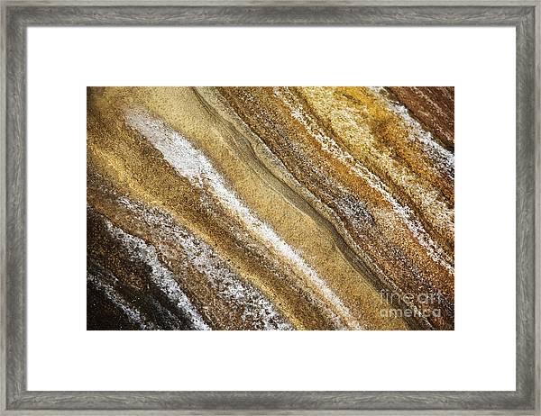 Ocean Cliff Textures 3 Framed Print