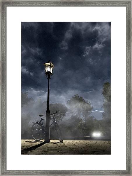 Ominous Avenue Framed Print