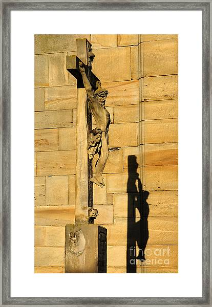 On The Cross Framed Print by Colin Woods