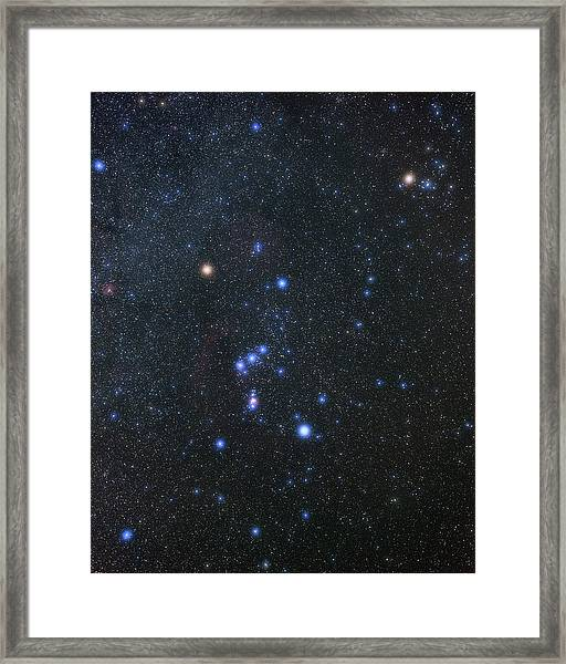 Orion Constellation Framed Print by Eckhard Slawik/science Photo Library