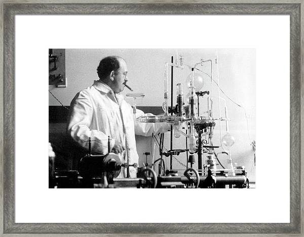 Otto Stern Framed Print by Aip Emilio Segre Visual Archives, Segre Collection
