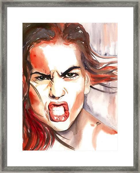 Outrage Framed Print