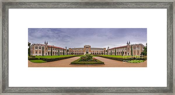 Panorama Of Rice University Academic Quad - Houston Texas Framed Print