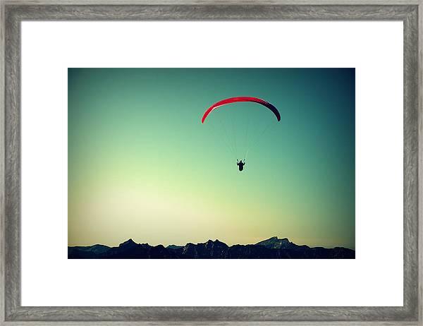 Paraglider Framed Print
