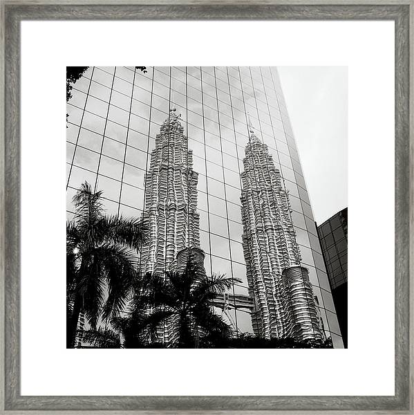 Petronas Towers Reflection Framed Print