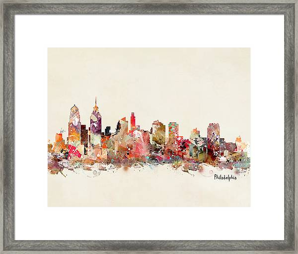 Philadelphia Skyline Framed Print
