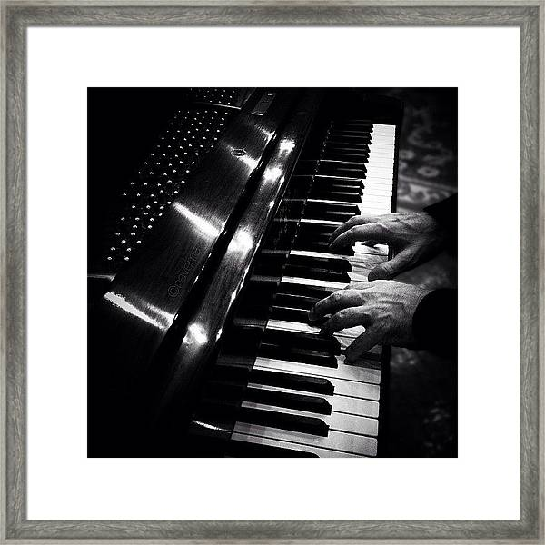 Play Me A Song Framed Print