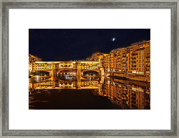Ponte Vecchio Nightscape Framed Print