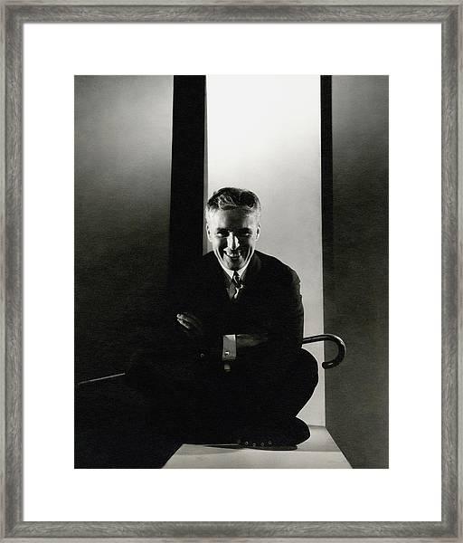 Portrait Of Charlie Chaplin Framed Print