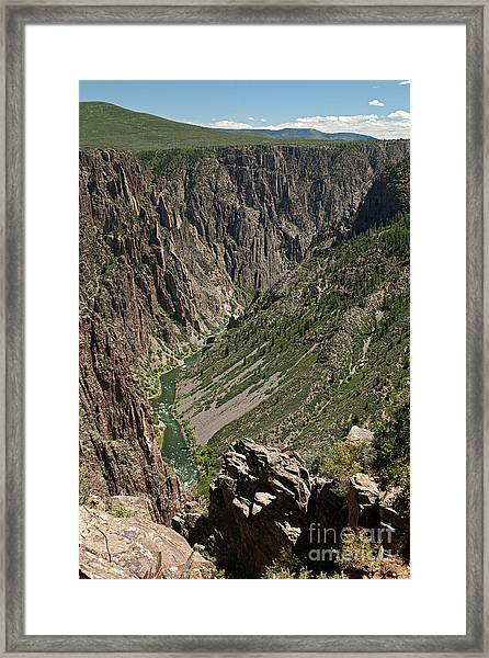 Pulpit Rock Overlook Black Canyon Of The Gunnison Framed Print