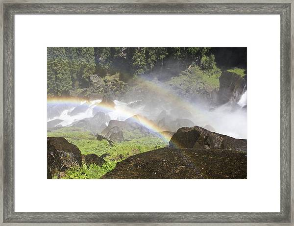 Framed Print featuring the photograph Rainbow Twins by Priya Ghose