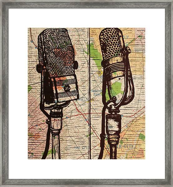 2 Rca Microphones Framed Print