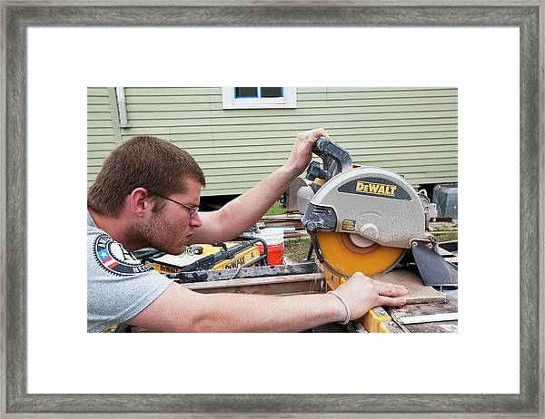 Re-building After Hurricane Katrina Framed Print