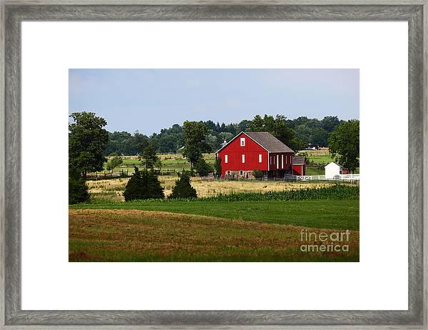 Red Barn Gettysburg Framed Print