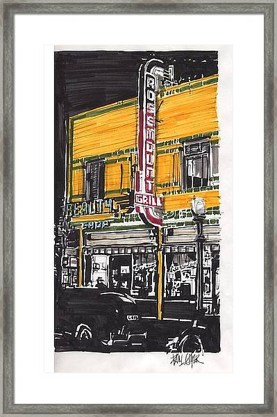 Rosemount Grill Framed Print by Paul Guyer
