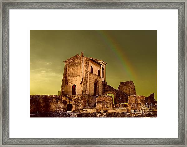 Ruin At Palatine Hill Framed Print