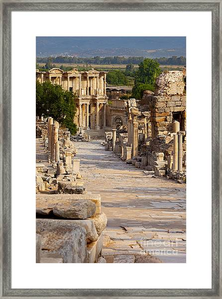 Framed Print featuring the photograph Ruins Of Ephesus by Brian Jannsen