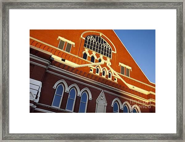 Ryman Auditorium Framed Print