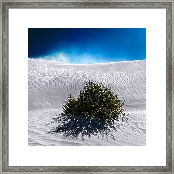 Sand Storm Framed Print