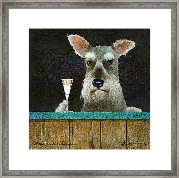 Schnauzers And Schnapps... Framed Print