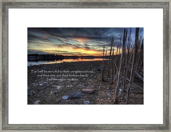 Scripture Photo Framed Print