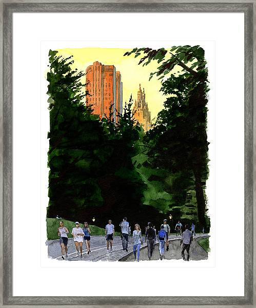 September Walk Framed Print