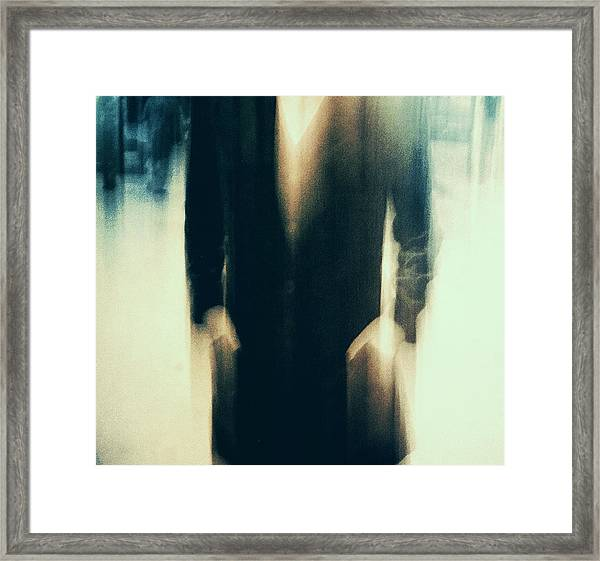 Shadows (behind) Framed Print