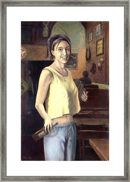 Framed Print featuring the painting Shannon by G Linsenmayer