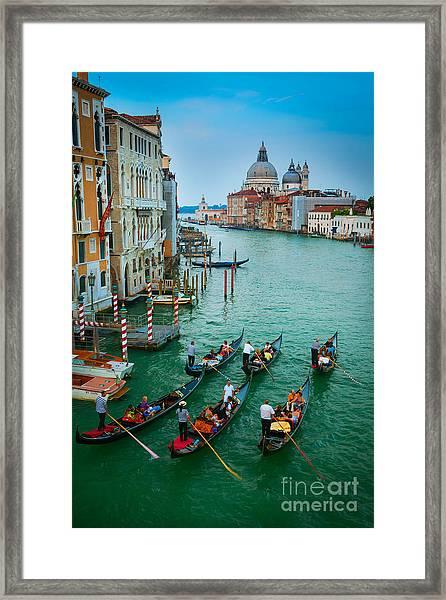 Six Gondolas Framed Print