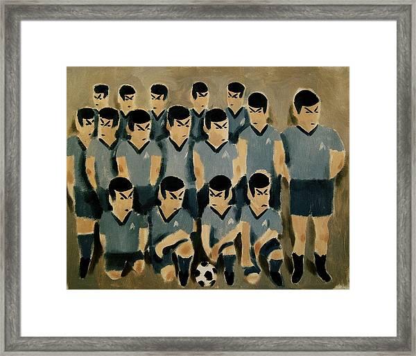 Spock Soccer Team Art Print Framed Print