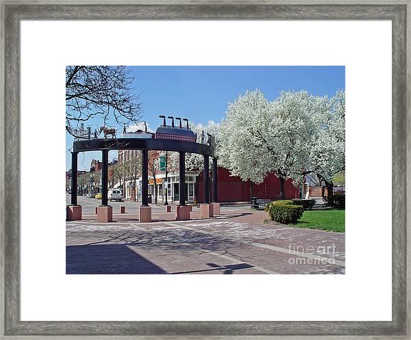 Springtime Corning Ny 4 Framed Print