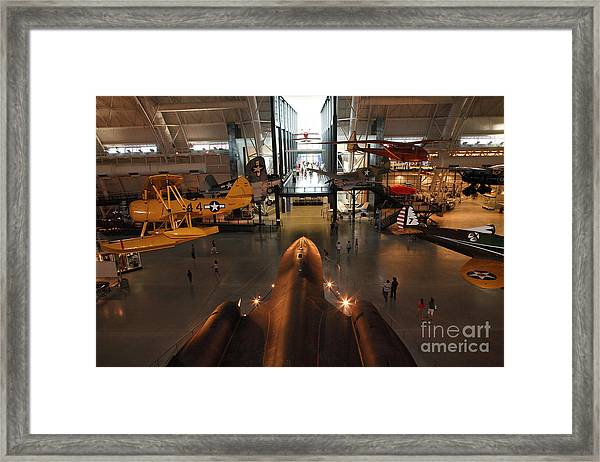 Sr71 Blackbird At The Udvar Hazy Air And Space Museum Framed Print