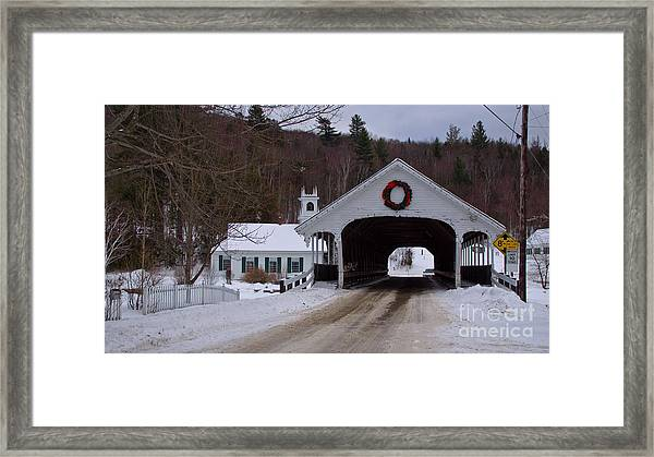 Stark Covered Bridge. Framed Print