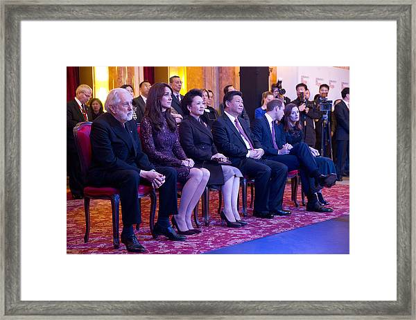 State Visit Of The President Of The People's Republic Of China - Day 3 Framed Print by WPA Pool