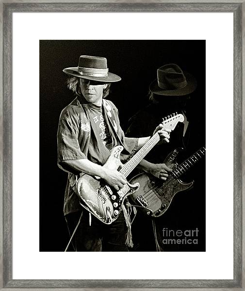 Stevie Ray Vaughan 1984 Framed Print