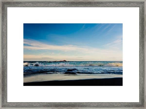 Sunlight On Beach Framed Print