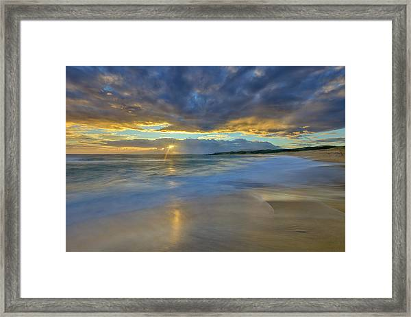 Sunrise Above Kawaaloa Bay On Molokais Framed Print
