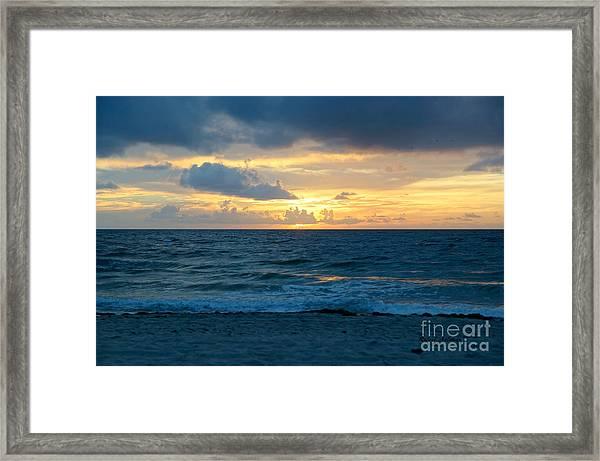 Sunrise In Deerfield Beach Framed Print