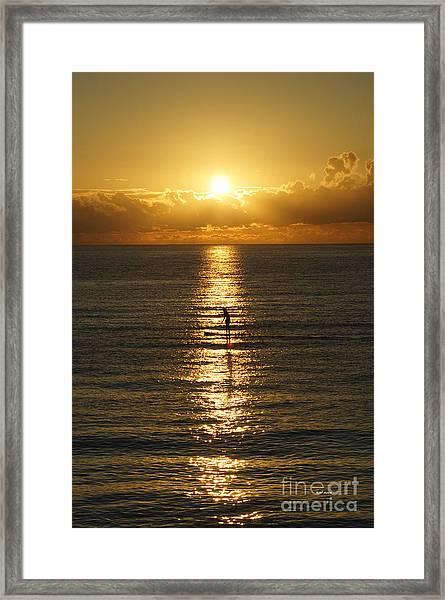Sunrise In Florida Riviera Framed Print