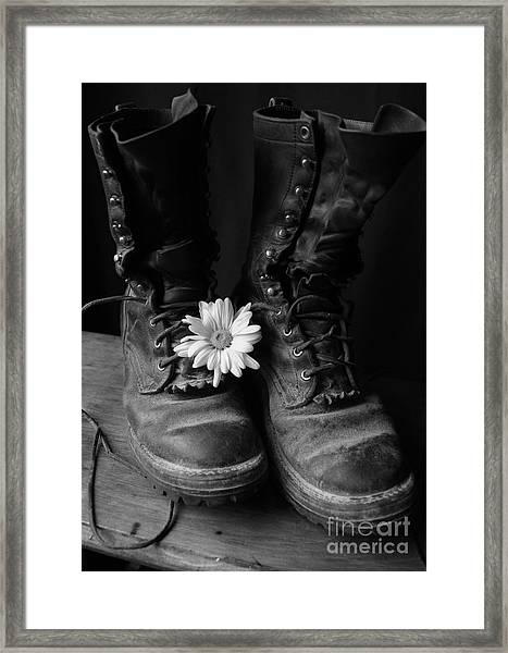 Sweat And Fire Worn Framed Print