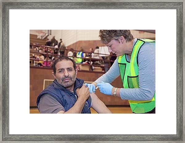 Swine Flu (h1n1) Vaccination Framed Print by Jim West