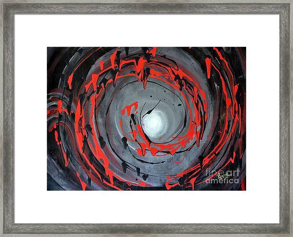 Swirling Around Framed Print
