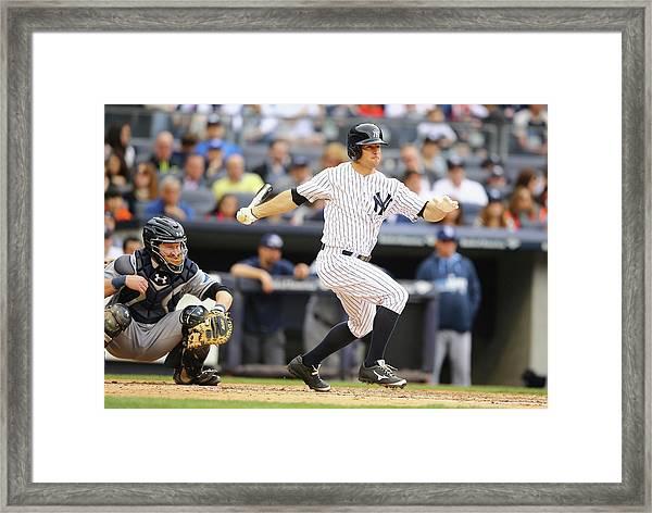 Tampa Bay Rays V New York Yankees Framed Print