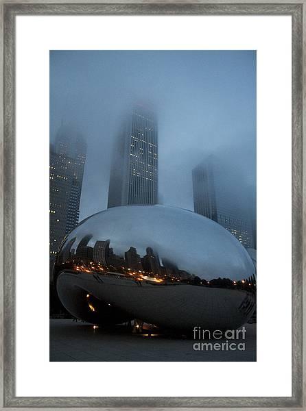 The Bean And Fog Framed Print