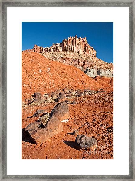 The Castle Capitol Reef National Park Framed Print