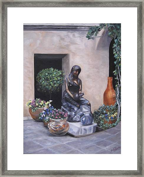 The Courtyard Framed Print