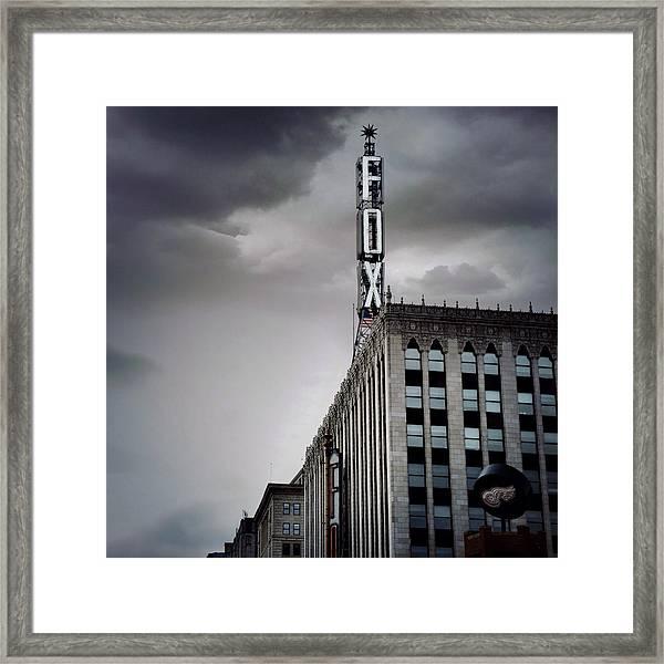 The Detroit Fox Framed Print