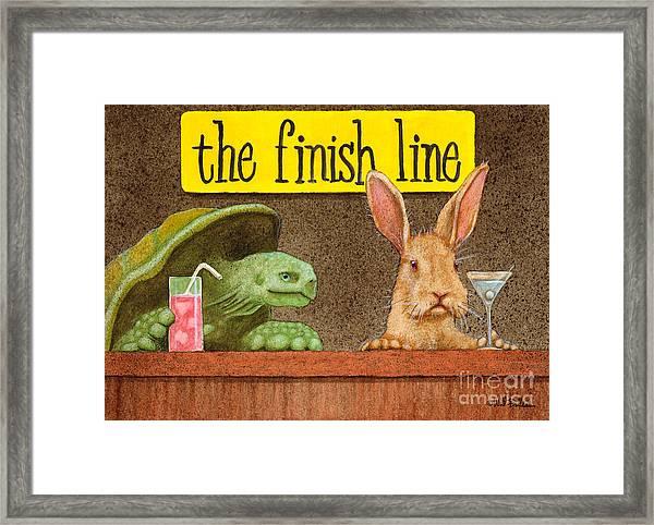 The Finish Line... Framed Print