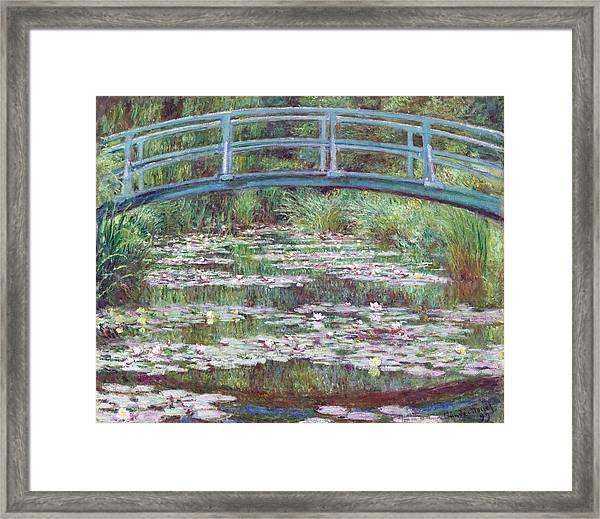 The Japanese Footbridge Framed Print