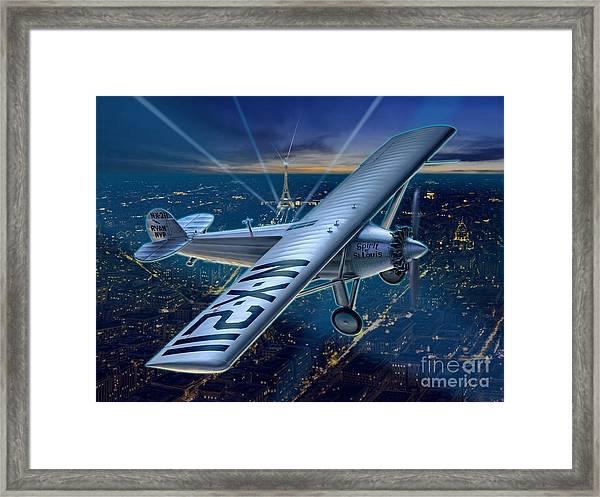 The Spirit Over Paris Framed Print by Stu Shepherd